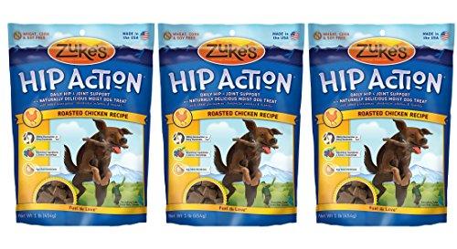 Zuke s Hip Action Natural Dog Treats, 1 lb, Pack of 3