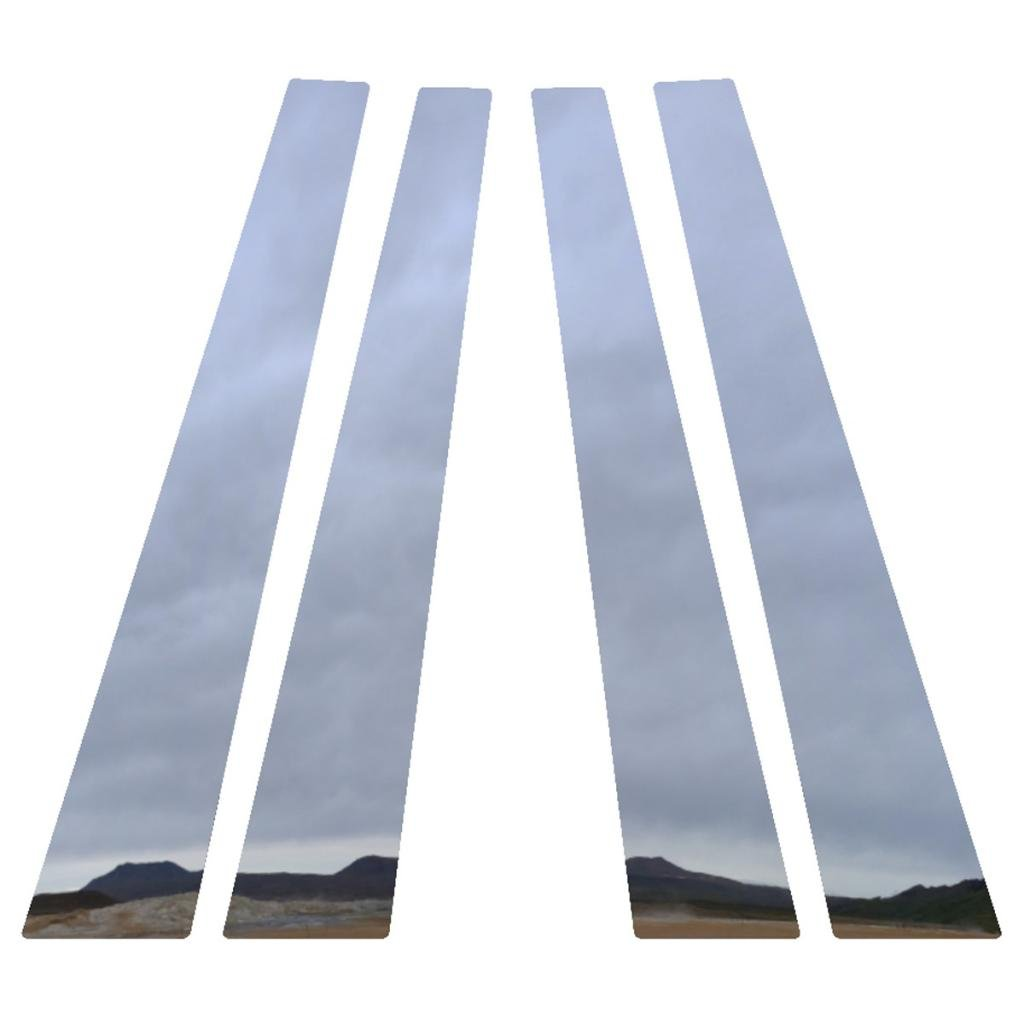 Ferreus Industries Polished Stainless Pillar Post Trim Cover fits 2006-2013 Chevy Impala All Models 4 Piece PIL-015-CR-a