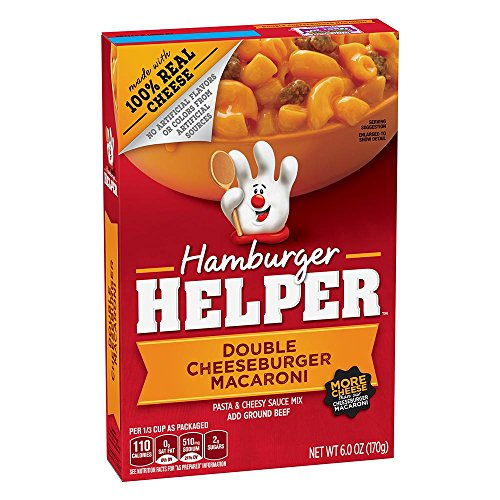 Betty Crocker Hamburger Helper, Double Cheeseburger Macaroni Hamburger Helper, 6 Oz Box
