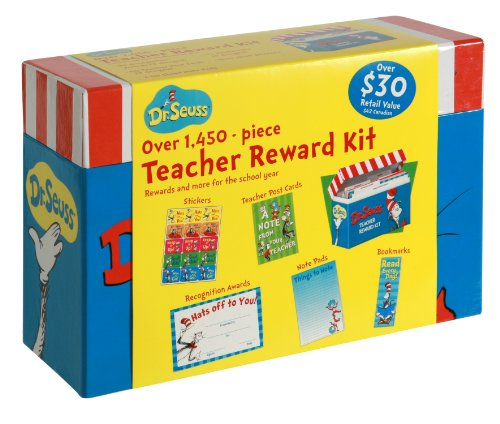 Eureka Cat in the Hat Back to School Classroom Supplies Teacher Reward Kit with Labelled Tabs, 9'' x 6'' x 3 1/8'', 1450 pc