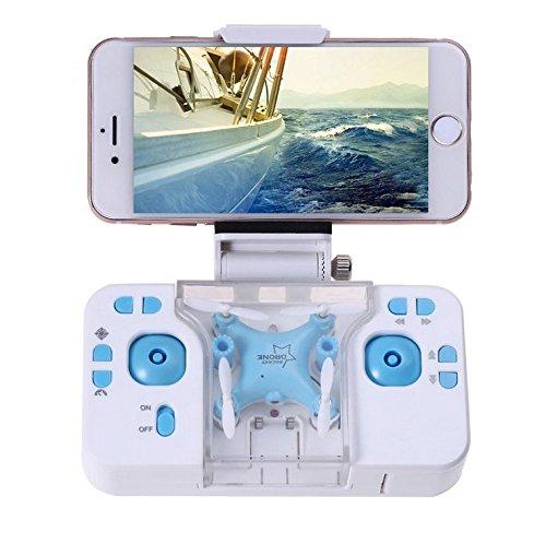 ミニ ドローン ポケットドローン 室内 FPV WIFI カメラリアルタイム 生中継 おもちゃ プレゼント L6058w Time4Deal(ブルー)
