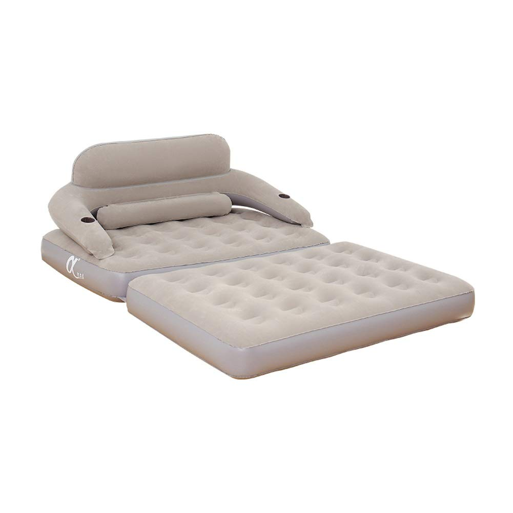 Inflatable Sofa Bed Individual Foldable Air Mattress Detachable Backrest Multifunction Comfortable Inflatable Bed, Outdoor Camping Inflatable Cushion CIM0918 by ZCY-Auto Mattress