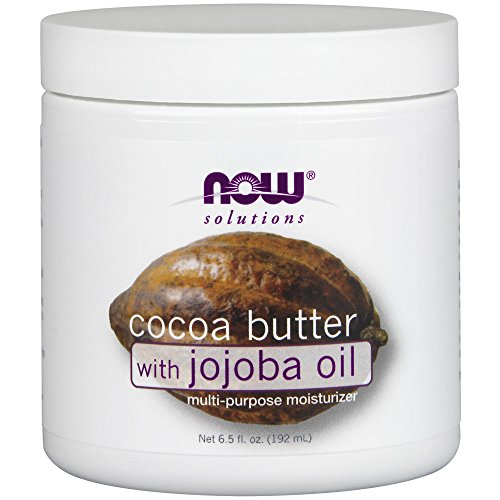 NOW Solutions Cocoa Butter with Jojoba Oil, 6.5-Ounce
