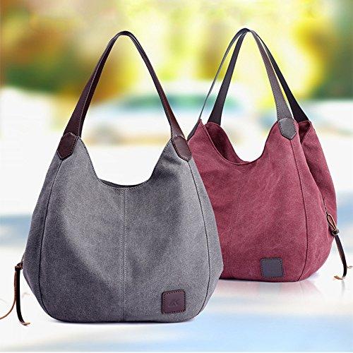 Purple Handbag Canvas 2018 Retro Shoulder Bag Shoulder Tote Lady Women TOOPOOT Vintage Bag CqpwUq7