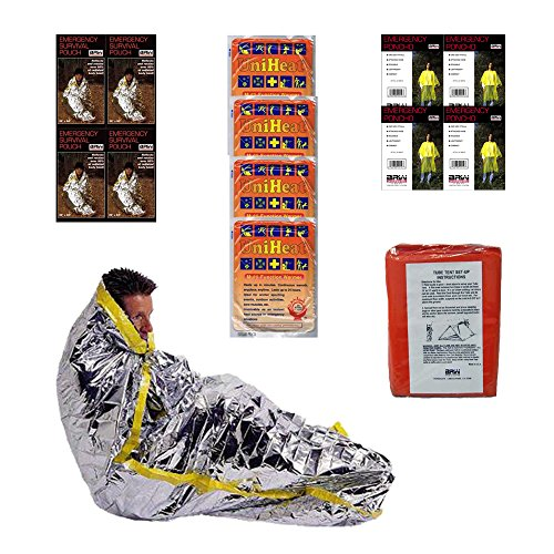 Extreme Survival Kit Four For Earthquakes, Hurricanes, Floods, Tornados, Emergency Preparedness