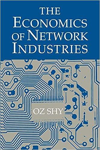 The economics of network industries