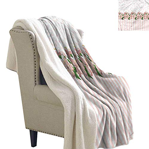 - Zodel Baby Blanket Dusty Rose Polka Dots and Stripes Blanket for Family and Friends W59 x L78