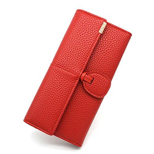 Femmes Pocket Lady L'embrayage Cuir Portefeuilles Titulaire Pour Femme Purses Téléphone Longue Portefeuille Hasp En Monnaie Red Porte Femme EAq1wHd