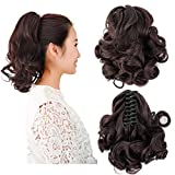 Beauty Angelbella New Popular Women Clip On Ponytail Long Claw Curly Hair Extensions With Jaw(2-33#)