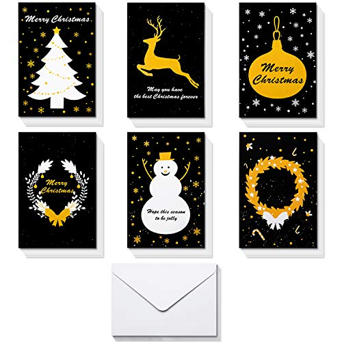 - Christmas Greeting Cards,HBlife 36 Handmade Holiday Xmas Cards & Envelopes for Xmas/New Year