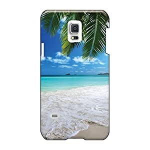Perfect Hard Cell-phone Case For Samsung Galaxy S5 Mini With Support Your Personal Customized Attractive Tropical Paradise On Beach Series ErleneRobinson