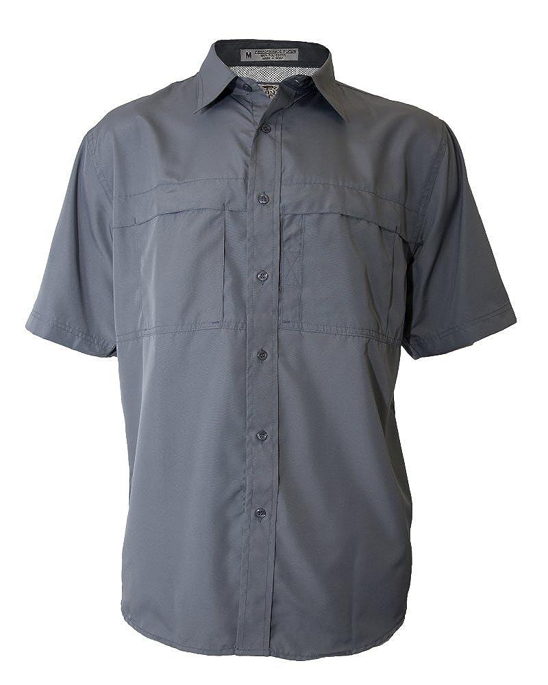Tiger Hill Mens Pescador Polyester Fishing Shirt Short Sleeves