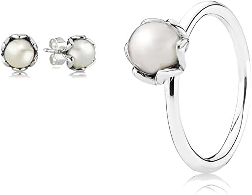 anello con perla pandora