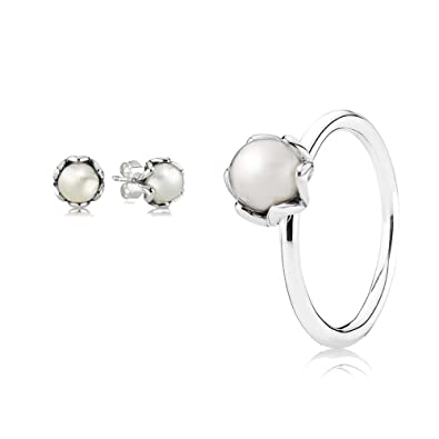 0067238c3 get pandora grand pearl earring pendants 290534p 6288d 441d9; new arrivals original  pandora gift set 1 grand pearl ring 190865p 52 and 1 grand pearl