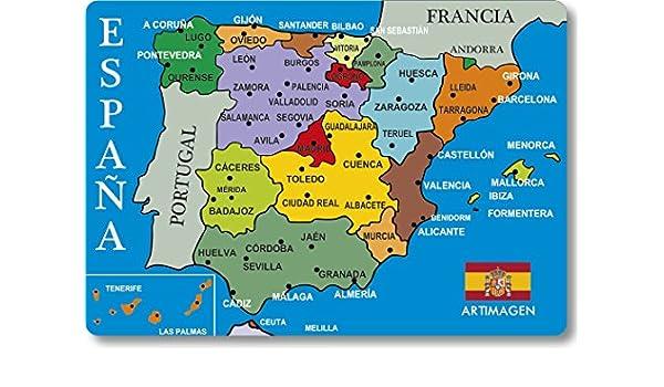 Artimagen Imán Mapa Ciudades España Azul 80x55 mm.: Amazon ...