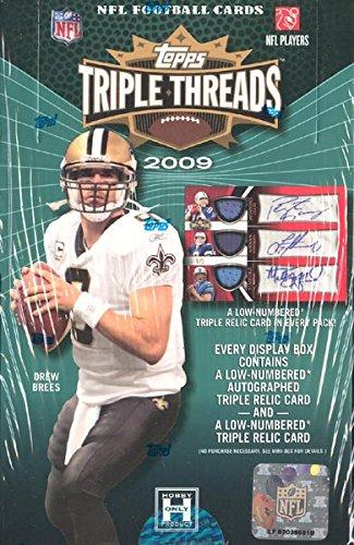 2009 Topps Triple Threads Football Hobby Box from Topps Triple Threads Football