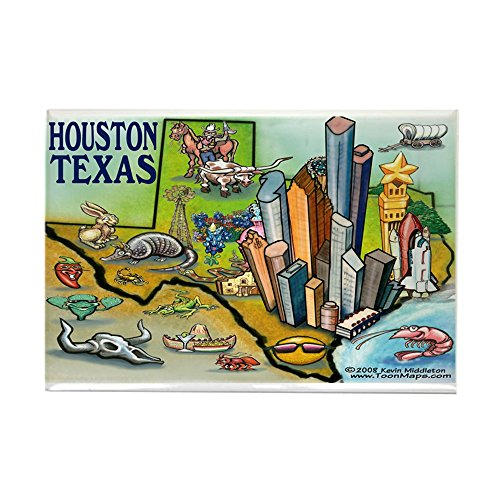CafePress - Houston TEXAS Map 11X17 Magnets - Rectangle Magnet, 2