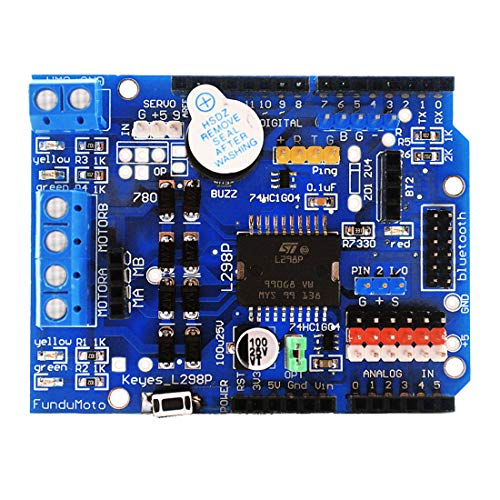 HiLetgo L298P DC Motor Drive Module L298P DC Motor Drive Shield H-Bridge Drive Expansion Board High-Power DC Stepper Motor Controller for Arduino (Best Arduino Motor Shield)