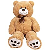 "Kangaroo Big Teddy Bears 36"" Large Teddy Bear Stuffed Animal - Tan 3 Foot Large Teddy Bear"