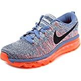 NIKE Men's Flyknit Max Ocean Fog/Black/Total Crimson/Sl Running Shoe 7.5 Men US For Sale