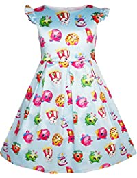 Sunny Fashion Girls Dress Apple Blossom Strawberry Kiss Poppy Corn Size 4-12