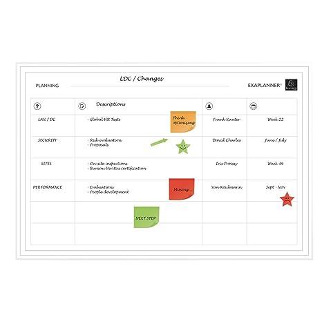 EXAPLANNER® 57170E - Planning magnético Team (Gestión de Equipos), Tamaño 90 x 59 cm y accesorios