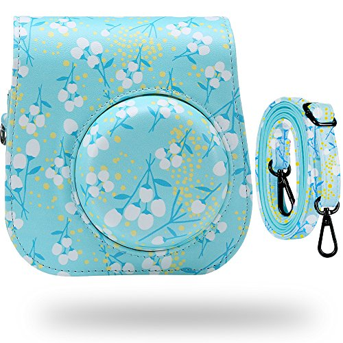 Katia Camera Case Bag for Fujifilm Instax Mini 9 Camera , also for Fujifilm Instax Mini 8 Instant Film Camera , with Accessories Pocket and Strap - Mint A