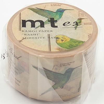 "MT EX Series Washi Paper Masking Tape, 1-1/5"" x 33', Bird (MTEX1P90)"