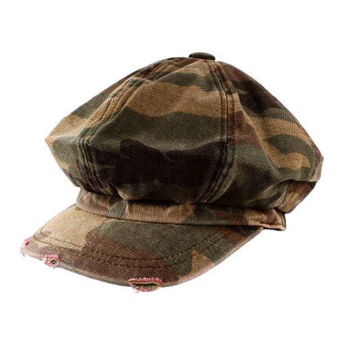 Morehats Men's Women's Unisex Cotton Packable Camouflage Newsboy Cap Gatsby Hat