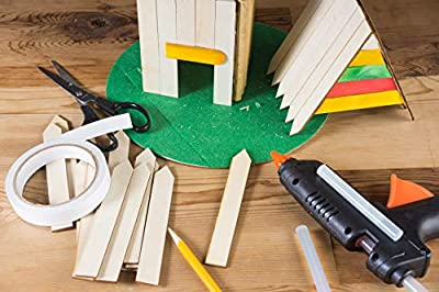 Juvale Wood Stakes - 100-Pack Unfinished Craft Wooden Garden Stakes, Garden Plant Marker Signs, Labels, Tags for Field, Potted Flower, Herb, 5.91 x 0.7 x 0.1 Inches