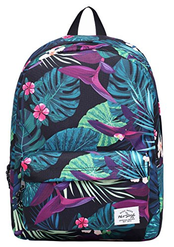 SIMPLAY Mochila Escolar Clásico | 44x30x12,5cm | Estampada de moda | Flor D213E, Floral tropical