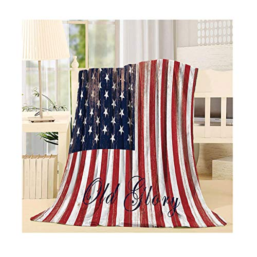 - SIGOUYI Lightweight Fleece Blankets Reversible Throw Cozy Plush Microfiber All-Season Blanket for Bed/Couch - Queen 50x80 Inch American Flag Old Glory