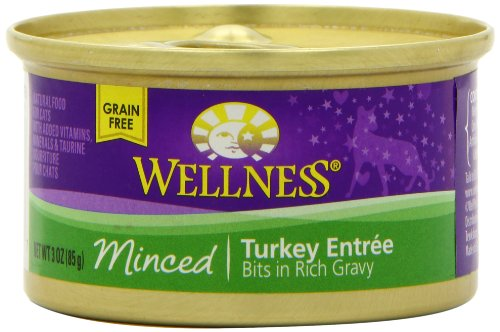 Wellness Canned Cat Food, Minced Turkey Entree, 24-Pack of 3-Ounce Cans, My Pet Supplies
