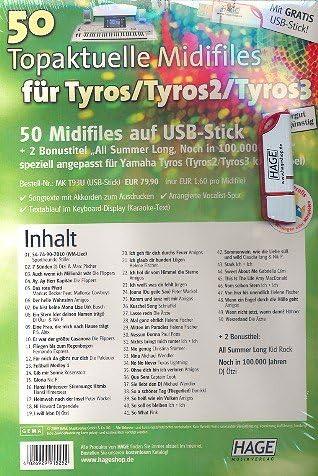 50 Fighter Pro midifiles a USB: para Tyros/Tyros 2 – 3 ...