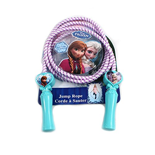 Disney Frozen Childrens Deluxe Jump Rope Princess Molded Heart Shaped ()