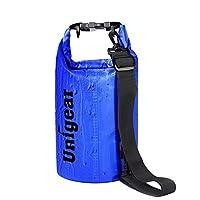 Dry Bag Sack, Waterproof Floating Dry Gear Bags for Boating, Kayaking, Fishing, Rafting, Swimming, Camping, Canoeing and Snowboarding with Free Bonus Universal Waterproof Phone Case Bag (Blue, 10L)
