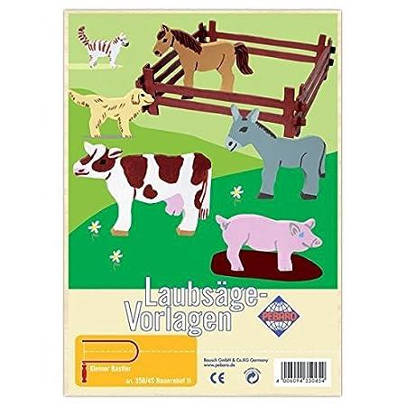 Matches21 Bauernhoftiere Holz Laubsägevorlagen Din A4 Holzvorlagen