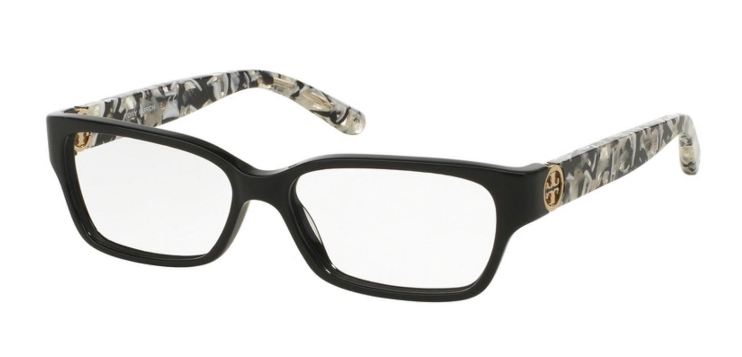 Tory Burch TY2025 TY2025 Eyeglass Frames 3155-53 - Black/black White ...