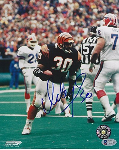 Ickey Woods Signed Cincinnati Bengals 8x10 Photo with - Beckett Certified