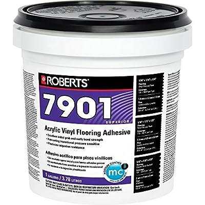 Roberts R7901-1 Acrylic Vinyl Flooring Adhesive, 1 Gallon