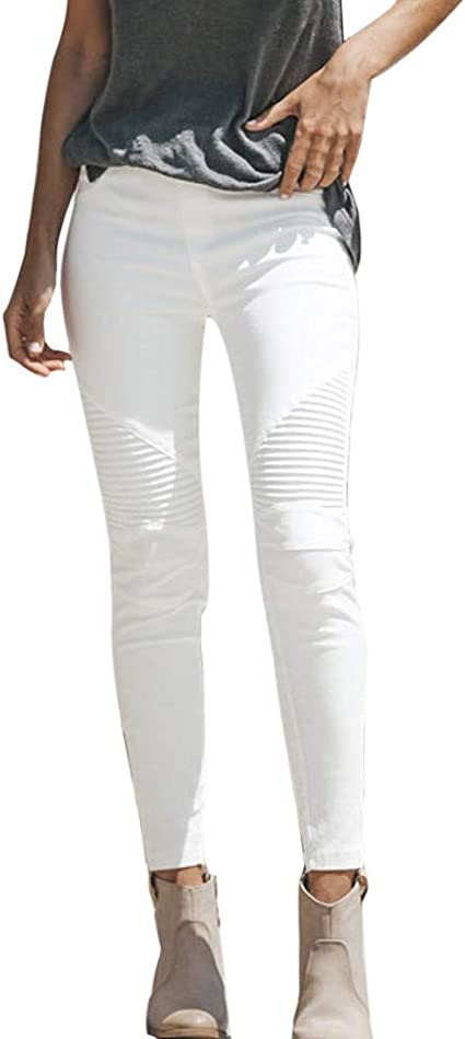 Womens Plus Size Stretch Slim Denim Skinny Jeans Pants High Waist Trousers 12-18