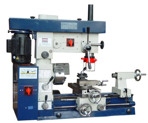 "12 X 20 Combo Lathe with Two Separate Motors That Allow for Use of Both the Mill and Lathe At the Same Time, 1"" Spindle Bore, 6 Speeds 160-1600 Rpm, Power Feed Ships with Standard Accessories and Full 1 Year Warranty"