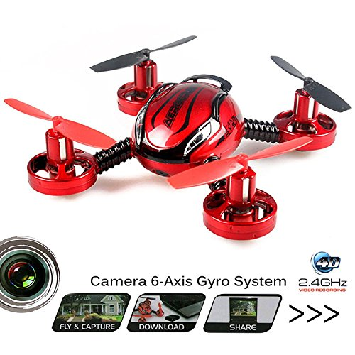 Cheerwing JXD 392 SPY Camera 2.4Ghz 4CH 6 Axis Gyro RC Quadcopter Drone...