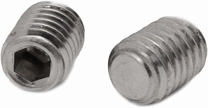 - V2A Madenschrauben Gewindestifte M10 X 45 DIN 913 m 2 St/ück Kegelkuppe Edelstahl A2