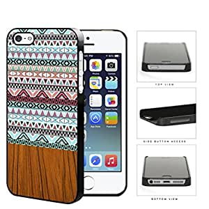 Aztec Artwork And Polished Wood Hard Plastic Snap On Cell Phone Case Apple iPhone 5 5s