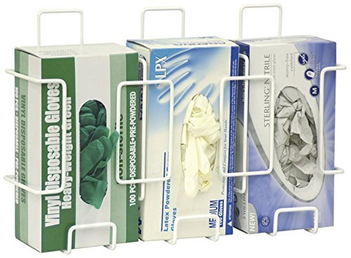- Omnimed 305380-1 Triple Wire Glove Box Holder/Dispenser - Side-by-Side