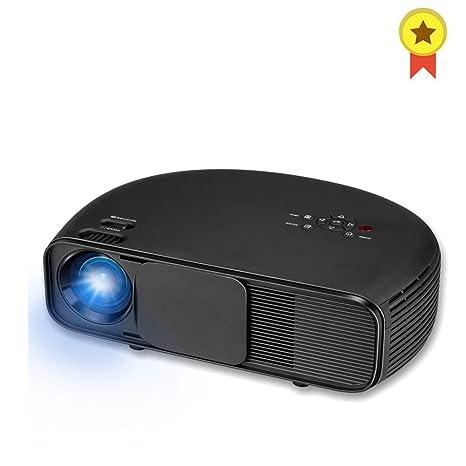 WZHESS Proyector de Video LED de 3200 lúmenes, diseño semicircular ...