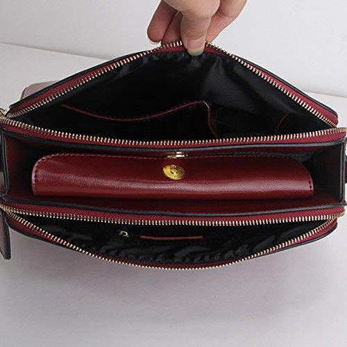 Sac portés 9091 Girl femme Sac en main bandoulière à Bordeaux cuir Sac E fashion LF épaule gOqxPAqnf