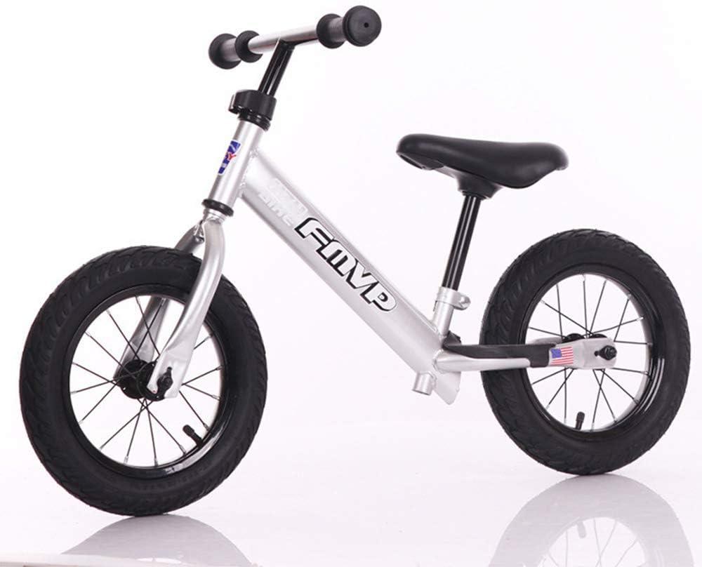 ZLXLX Entrenamiento Balance Car Niños 'S 12-Inch Marco de acero al carbono sin pedal Walking Balance Bicicleta 3-6 años Niños, 12 pulgadas,12 pulgadas