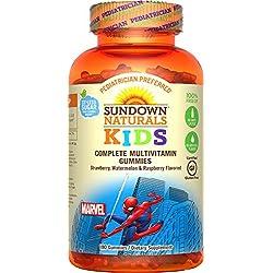 Sundown Naturals® Kids Marvel Spiderman® Complete Multivitamin, 180 Gummies